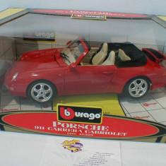 Macheta Porsche 911 Carrera - 1989 - Burago  scara 1:18
