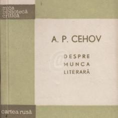 Despre munca literara (Ed. Cartea Rusa) - Biografie