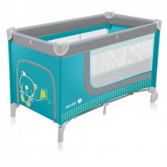 Patut pliabil cu 2 nivele Holiday Turquoise Baby Design - Patut pliant bebelusi