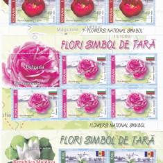 FLORI, MINISHEET 2017, MNH, ROMANIA. - Timbre Romania, Flora, Nestampilat