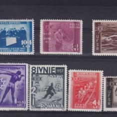 ROMANIA 1937, LP 119, UFSR SERIE MNH - Timbre Romania, Nestampilat