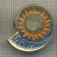 Z1186 INSIGNA TURISM - SOARE, PLAJA, VALURI -SCRIERE IN LIMBA RUSA
