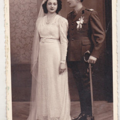 bnk foto Militar cu sotie - interbelica
