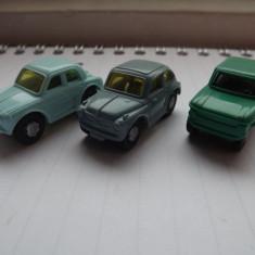 K129 Kinder vehicule -set 3 masinute cu motoras K96 N99 N100 N102 - Surpriza Kinder