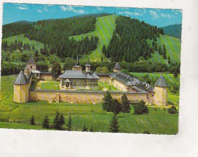 bnk cp Manastirea Sucevita  - Vedere - necirculata - Kruger 1137/5 foto