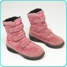 DE FIRMA → Cizme piele, calduroase, impermeabile + aerisite, GEOX → fete | nr 31 - Cizme copii Geox, Culoare: Roz, Piele intoarsa