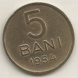 ROMANIA RPR 5 BANI 1954 [1] XF++, livrare in cartonas - Moneda Romania, Alama