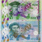 Bancnota Portugalia 50 - 1.000 Escudos 2017 - set x4 probe polimer - SUPERBE