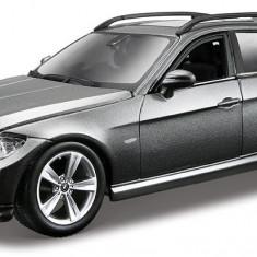 BMW 3 Series Touring - gri metalizat - Kit de asamblare - 1:24 - Masinuta Bburago