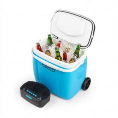 AUNA PICKNICKER TROLLEY MUSIC COOLER, cutie de răcire, 36 L, difuzor BT, culoare albastră - Echipament karaoke