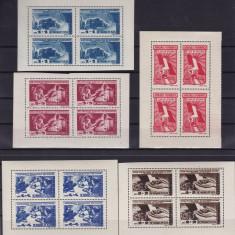 ROMANIA 1947  LP  224   APARAREA PATRIOTICA BLOCURI  DE 4  TIMBRE  MNH