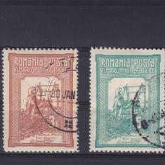 ROMANIA 1906 LP 58 TESATOAREA EMISIUNE DE BINEFACERE SERIE STAMPILATA - Timbre Romania