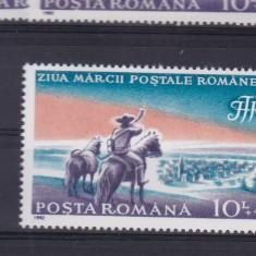 ROMANIA 1992, LP 1288, ZIUA MARCII POSTALE ROMANESTI MNH - Timbre Romania, Nestampilat