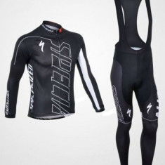 Echipament ciclism Specialized subtire toamna primavara lung negru nou bluza
