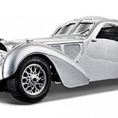 Bugatti Atlantic - argintiu - 1:24 - Masinuta Bburago