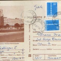 Romania - Intreg postal CP circulat 1980 - Braila-Sediul Politic - Administrativ, Dupa 1950