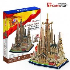 Catedrala Sagrada Familia Spania - Puzzle 3D - 194 de piese - Tablou canvas