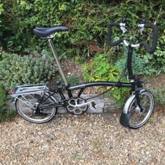 Bicicleta Brompton, pliabila, cu piese originale -calitate - Bicicleta pliabila, 19.5 inch, 16 inch, Numar viteze: 6