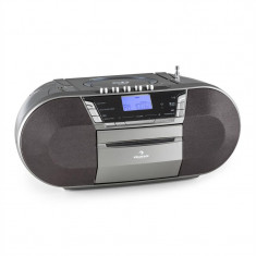 Auna Jetpack Boombox USB portabil MP3 CD baterie FM gri - CD player