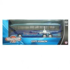 Autobuz transport persoane - albastru - Cartela telefonica straina