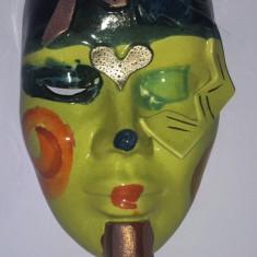 Masca venetiana din sticla 20x13 cm Stare perfecta - Arta locala