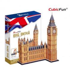 Big Ben si Palatul Parlamentului Anglia - Puzzle 3D - 117 piese - Tablou canvas