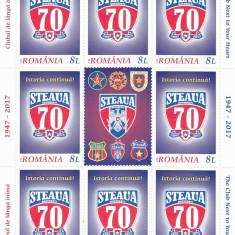 STEAUA BUCURESTI, CLUBUL SPORTIV, MINISHEET 2017, MNH, ROMANIA. - Timbre Romania, Nestampilat
