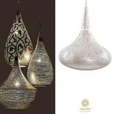 Corp iluminat argintat Sufi Filigros Large - Corp de iluminat