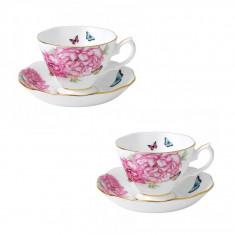Set 2 cesti cu farfurii ceai/cafea Friendship - Ceasca