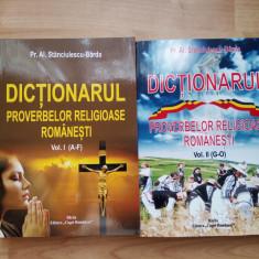 AL. STANCIULESCU BARDA - DICTIONARUL PROVERBELOR RELIGIOASE ROMANESTI VOL I-II - Carte folclor