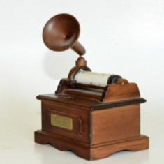 Cutiuta muzicala realizata din lemn, patefon, gramofon - Beethoven - Für Elise