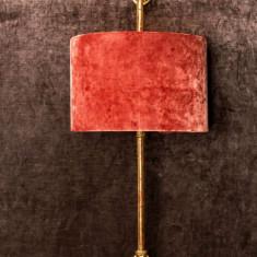 Aplica perete cu abajur catifea