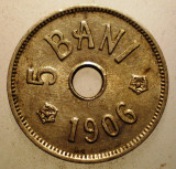 2.727 ROMANIA 5 BANI 1906 J, Cupru-Nichel