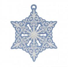 Decoratiune Fulg de nea – Jasper albastru - Globuri brad