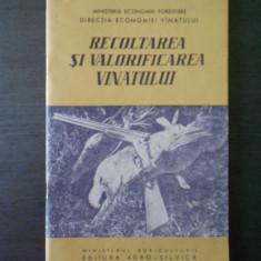RECOLTAREA SI VALORIFICAREA VANATULUI