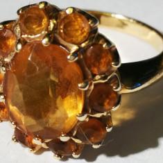 Inel aur 14 carate 5 grame cu citrin, 14k