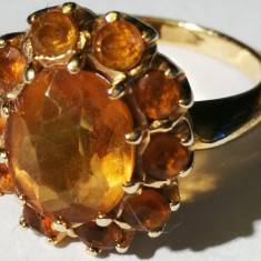 19. Inel aur 14 carate 5 grame cu citrin, Carataj aur: 14k, Culoare: Galben