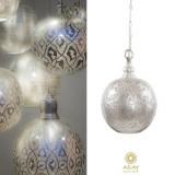 Corp iluminat argintat Ball Filigrain Small, Pendule