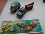 K135 Kinder - set 2 vehicule camping, canoe, rulota K96 N28 N30 cu BPZ