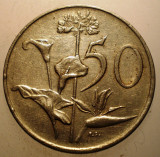 2.615 AFRICA DE SUD 50 CENTS 1988, Cupru-Nichel