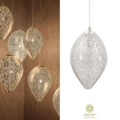 Corp iluminat argintat Romance Filigros Small - Corp de iluminat