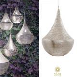 Corp iluminat argintat Bella Filisky Medium, Pendule