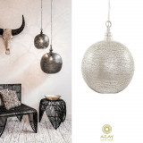 Corp iluminat argintat Ball Filisky XL, Pendule