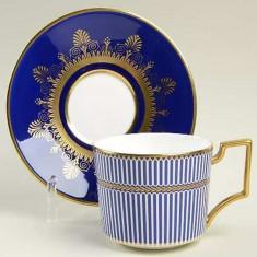 Prestige Anthemion Blue farfurie ceai Iconic