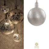 Corp iluminat argintat Ball Filigrain Super, Pendule