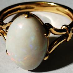17. Inel aur 14 carate 4, 3 grame cu opal mare 14x10 mm, Carataj aur: 14k, Culoare: Galben