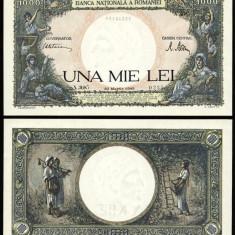 ROMANIA 1000 LEI 20 MARTIE 1945 UNC NECIRCULATA - Bancnota romaneasca