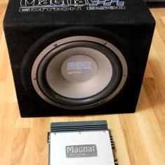 Subwoofer Auto + Amplificator Magnat