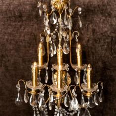 Aplica perete tip candelabru cristal 6 lumini - Corp de iluminat