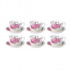 Set 6 cesti cu farfurii ceai/cafea – Friendship - Ceasca
